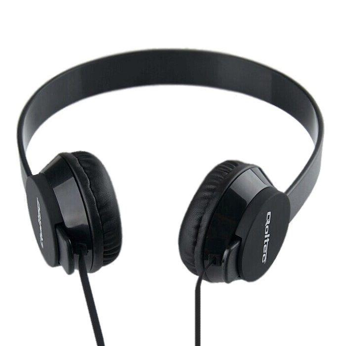 Qoltec Słuchawki nauszne z mikrofonem | Czarne