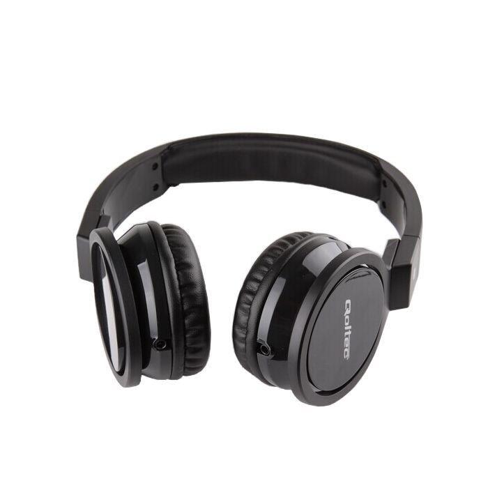 Qoltec Słuchawki nauszne + mikrofon   Czarne