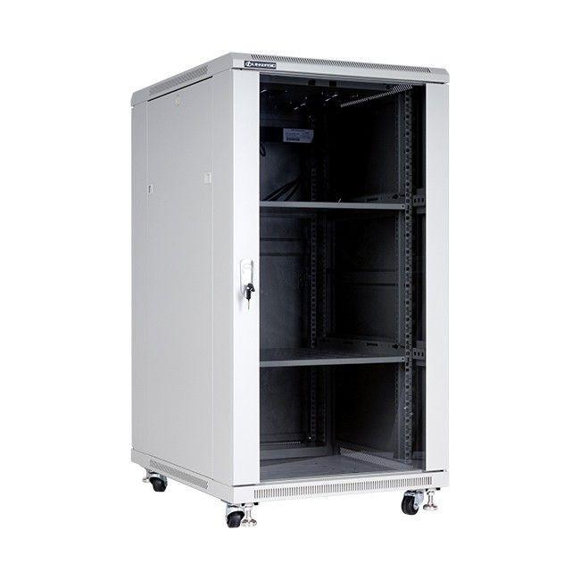 Linkbasic szafa stojąca rack 19'' 22U 600x600mm szara (drzwi przednie szklane)
