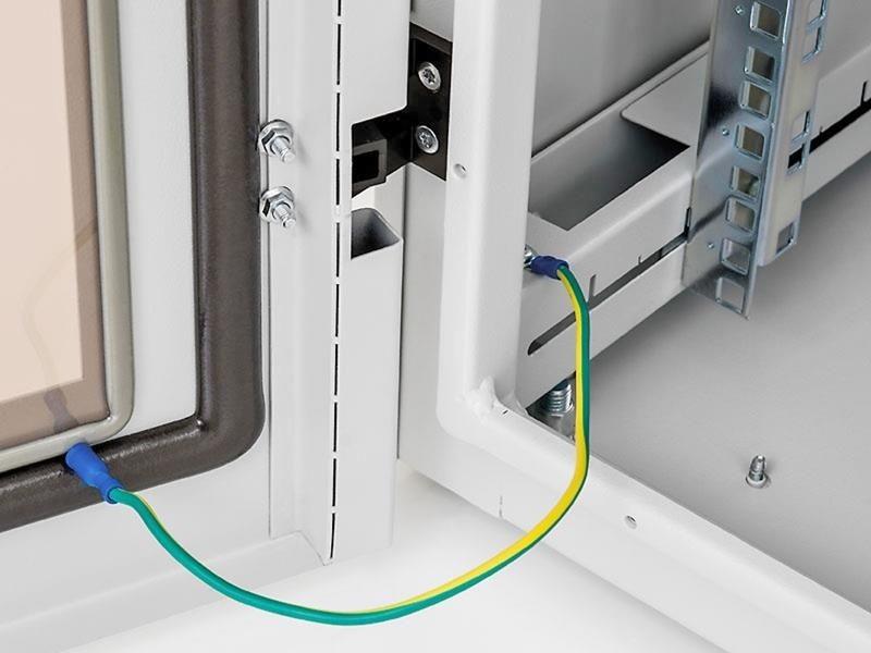 Triton  Szafa rack 19 stojąca RIE-42-A61-CCX-A1 (42U 600x1000mm przeszklone drzwi kolor jasnoszary RAL7035 klasa szczelności IP54)