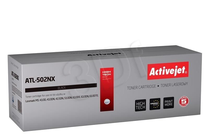 ActiveJet Toner ActiveJet ATL-502NX | Czarny | 10000 pp | Lexmark 502X (50F2X00)