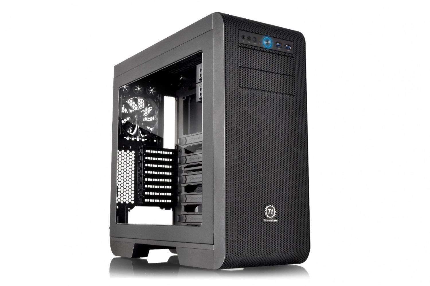Thermaltake Core V51 USB3.0 Window (3x120mm), czarna