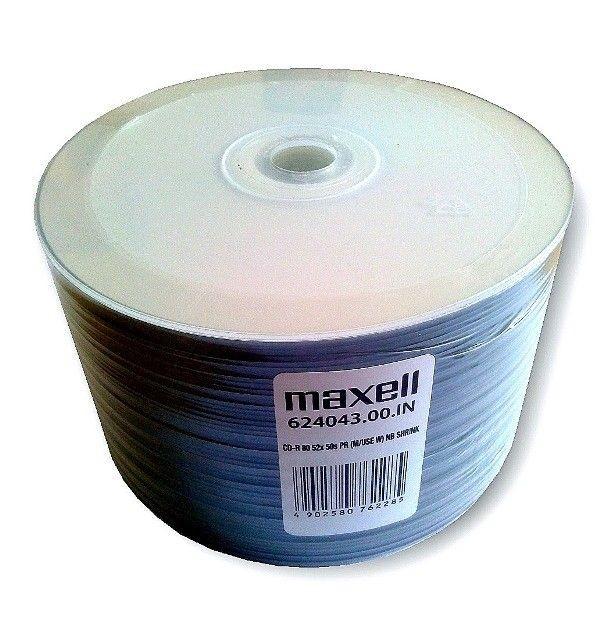 Maxell CD-R 700 MB 52x PRINTABLE SZPINDEL 50SZT