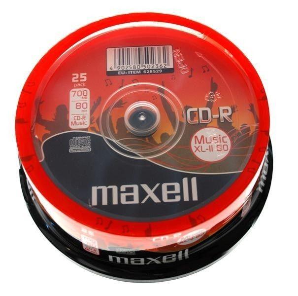 Maxell CD-R 700 MB AUDIO XL II CAKE 25 SZT