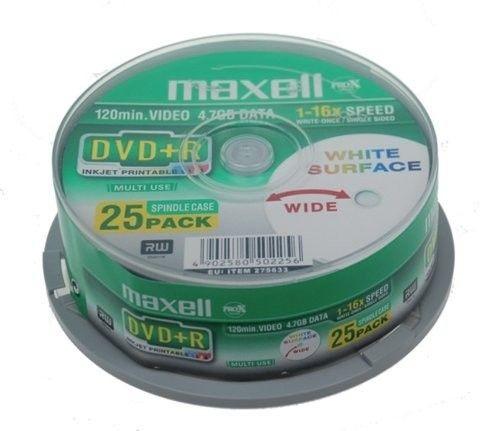 Maxell DVD+R 4,7 GB 16x PRINTABLE CAKE 25 szt.