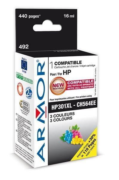 Armor cartridge pro HP DJ 1510 barevná, 16 ml (CH564EE)(náhrada za K20320)