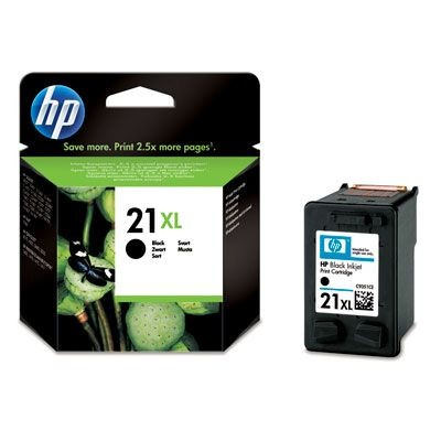 HP wkład atramentowy black No. 21XL do HP Deskjet 3920, 3940, D1360, D2360, F380 (475str)