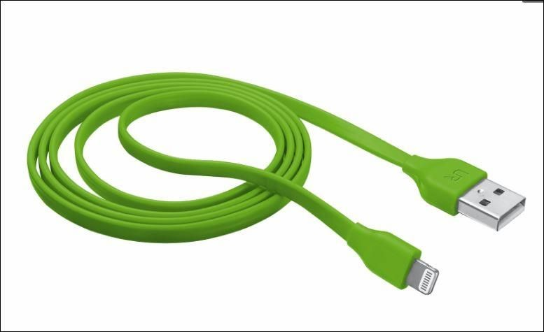 Trust Flat Lightning Cable 1m - lime