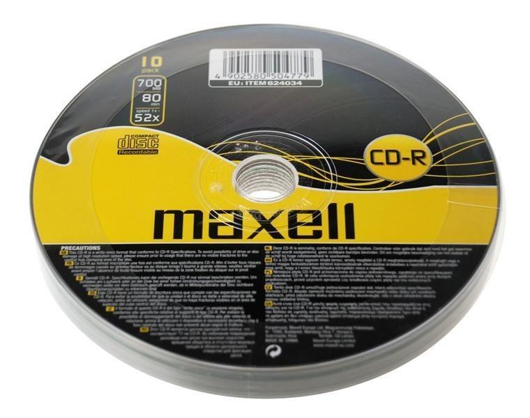 Maxell CD-R 700 MB 52x SZPINDEL 10