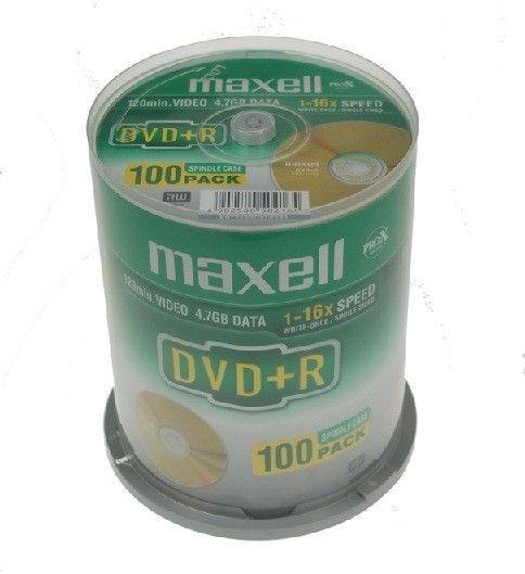Maxell plyta DVD+R 4,7 16x cake 100