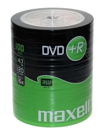 Maxell DVD+R 4,7 GB 16x SZPINDEL 100