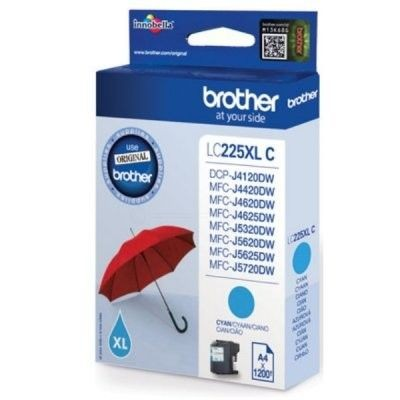 Brother Tusz LC225XLC cyan XL | 1 200str | MFC-J4620DW / MFC-J4420DW / MFC-J4625