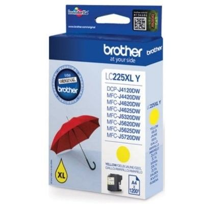 Brother Tusz LC225XLY yellow XL | 1 200str | MFC-J4620DW / MFC-J4420DW