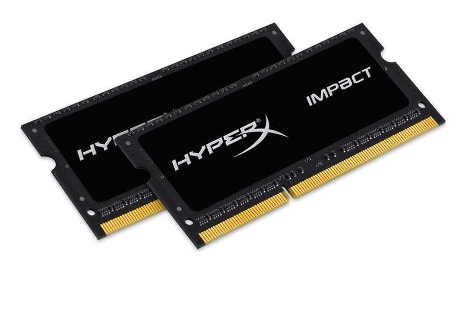 Kingston HyperX 2x4GB 2133MHz DDR3L CL11 SODIMM 1.35V Impact Black Series