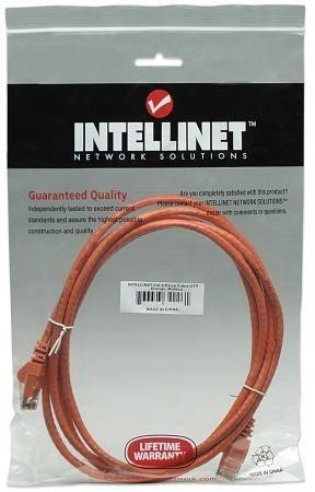 Intellinet Network Solutions patch cord RJ45, kat. 6 UTP, 1m pomarańczowy, 100% miedź