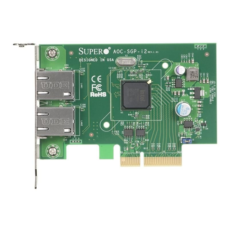 Supermicro 2-port GbE Card Based on Intel i350