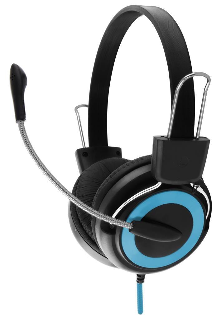 Esperanza Słuchawki Stereo z Mikrofonem i Regulacją Głośności EH152B