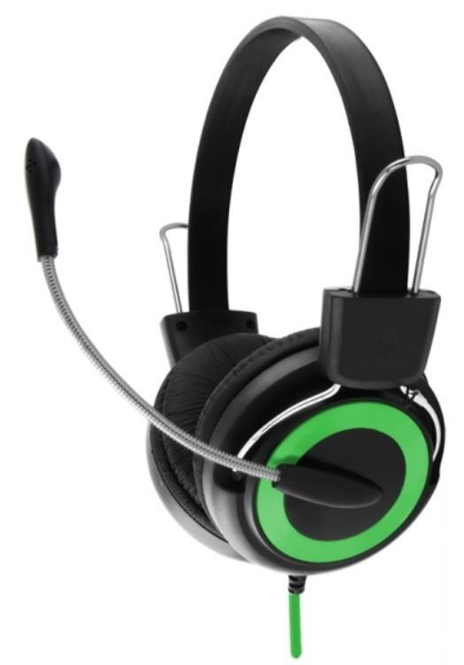 Esperanza Słuchawki Stereo z Mikrofonem i Regulacją Głośności EH152G