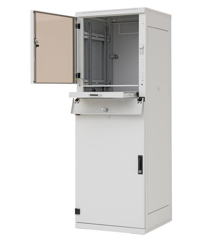 Triton 19 Szafa przemysłowa stojąca RPE-37-A68-CCX-A1 (37U 600x800mm trzysekcyjna kolor jasnoszary RAL7035 klasa szczelności IP54)