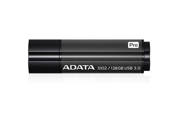 A-Data Adata pamięć USB S102 Pro 128GB USB 3.0 Titanium Szary (Read/Write 100/50MB/s )