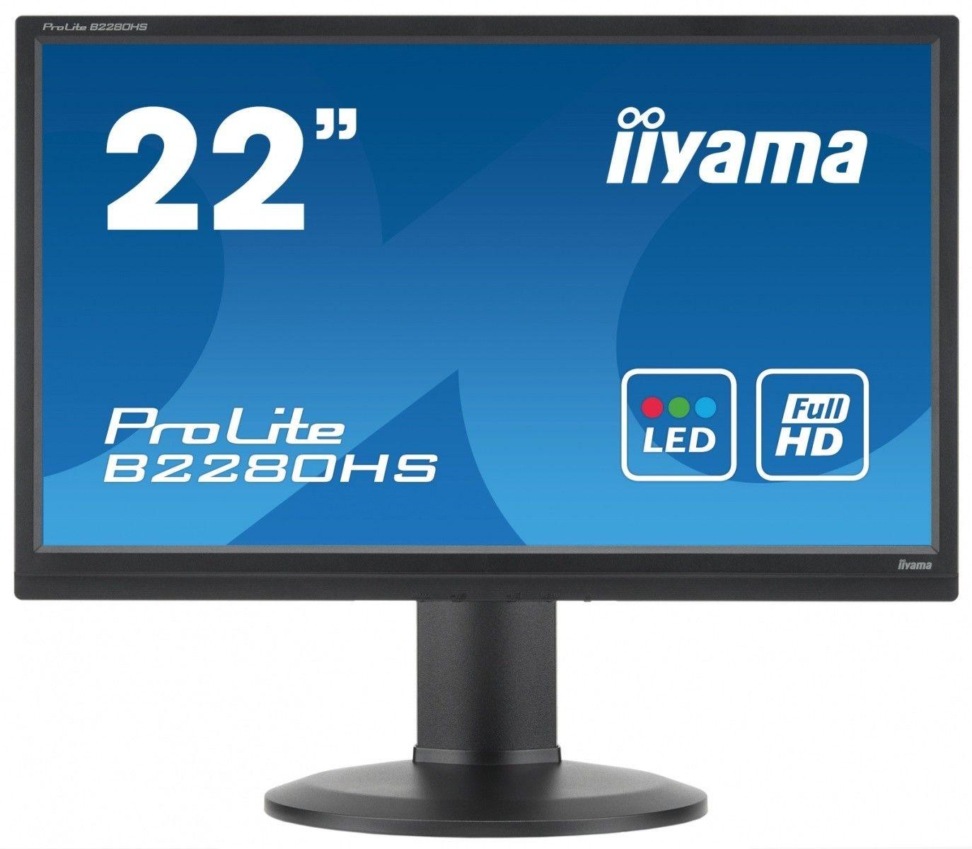 iiyama Monitor B2280HS-B1DP 21.5inch, TN, Full HD, DVI-D, DP, głośniki