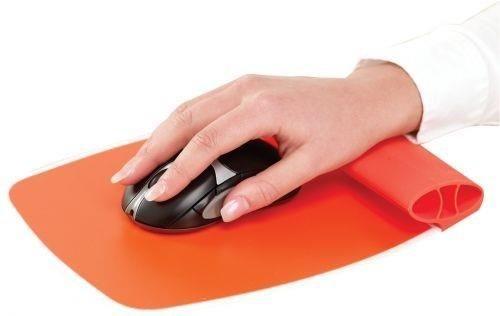 Fellowes - podkładka pod mysz i nadgarstek, silikonowa, pomarańczowa