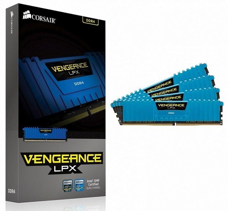 Corsair Pamięć DDR4 Corsair Vengeance LPX 16GB (4x4GB) 2666MHz CL16-18-18-35 1,20V XMP 2.0 Blue