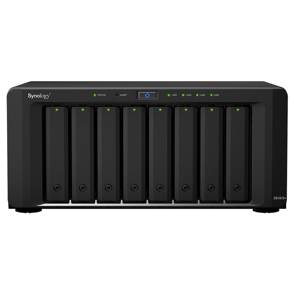 Synology DS1815+, 8-Bay SATA 3G, 2,4GHz, 2GB, 4xGbE LAN, 4xUSB3, 2xeSATA