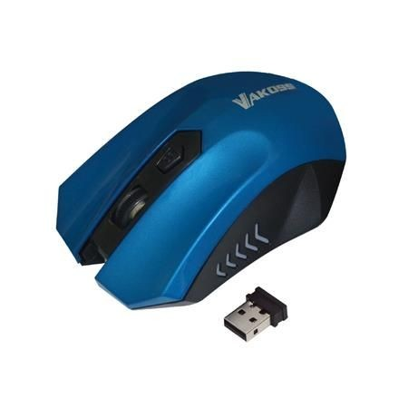 Vakoss Bezprzewod Mysz Optyczna TM-658UB 4D, 800/1200/1600DPI, 2.4GHz, niebieska