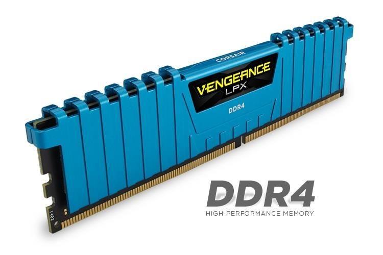 Corsair Vengeance LPX 4x4GB 2133MHz DDR4 CL13 1.2V, DIMM, XMP 2.0, Niebieska