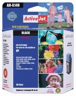 ActiveJet Tusz ActiveJet AH-20N | Black | 40 ml | HP C6614 | HP 20