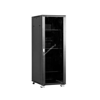 Linkbasic szafa stojąca rack 19'' 37U 800x800mm czarna (drzwi przednie szklane)