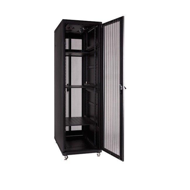 Linkbasic szafa stojąca rack 19'' 47U 600x1000mm czarna (drzwi perforowane)