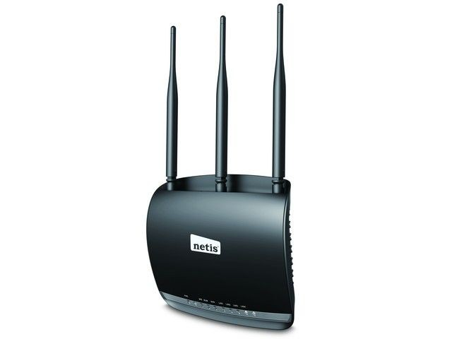 Netis Router DSL WIFI G/N300 + LAN x4, 3x 5dBi Antena high power