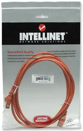 Intellinet Network Solutions patch cord RJ45, kat. 6 UTP, 3m pomarańczowy