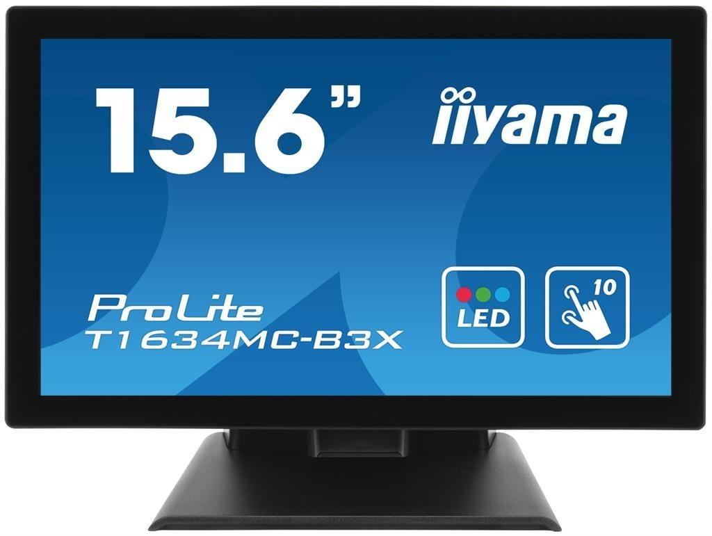 iiyama Monitor T1634MC-B3X 15.6inch, TN touchscreen, WXGA, DVI, USB