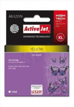 ActiveJet Tusz ActiveJet AB-525YN | Yellow | 15 ml | Brother LC525Y