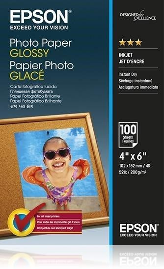 Epson Papier Photo Glossy [ 200g | 10x15cm | 100 sheets ]
