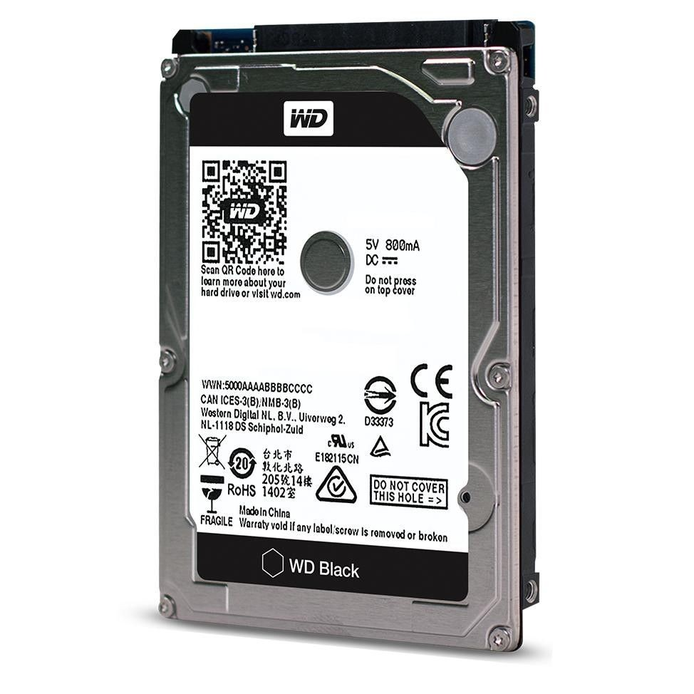 Western Digital Dysk twardy WD Black, 2.5'', 500GB, SATA/600, 7200RPM, 32MB cache
