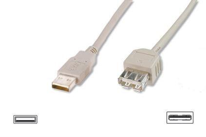Assmann Kabel przedłużający USB 2.0 HighSpeed Typ USB A/USB A M/Ż szary 3m