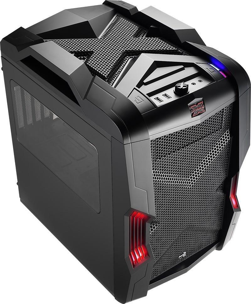 Aerocool STRIKE-X CUBE BLACK, USB 3.0, Obudowa Micro-ATX, bez zasilacza