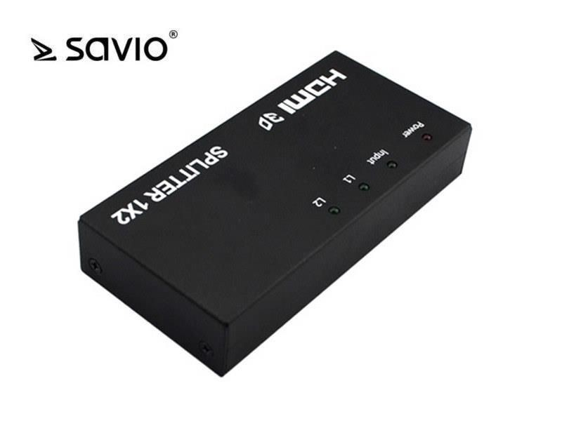 Savio CL-42 HDMI Splitter na 2 odbiorniki, Full HD