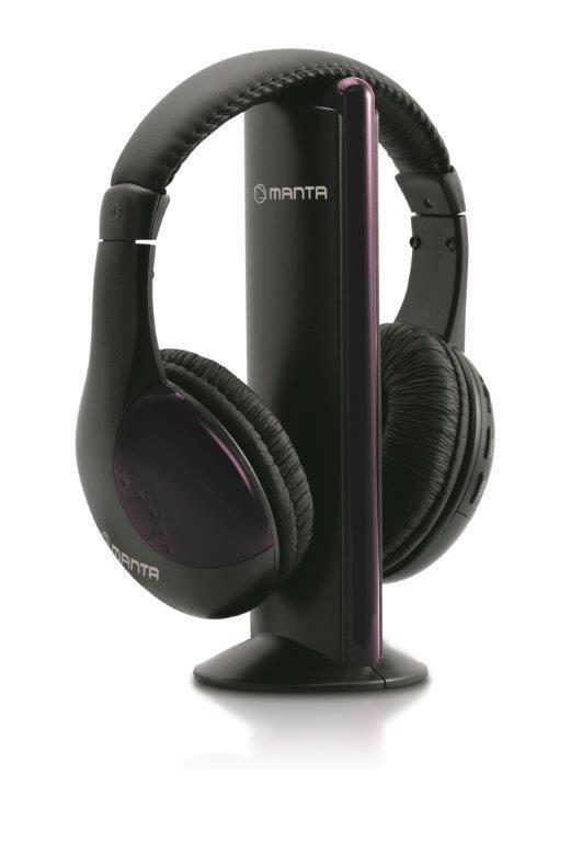 Manta Multimedia Słuchawki MM65 bezprzewodowe czarne