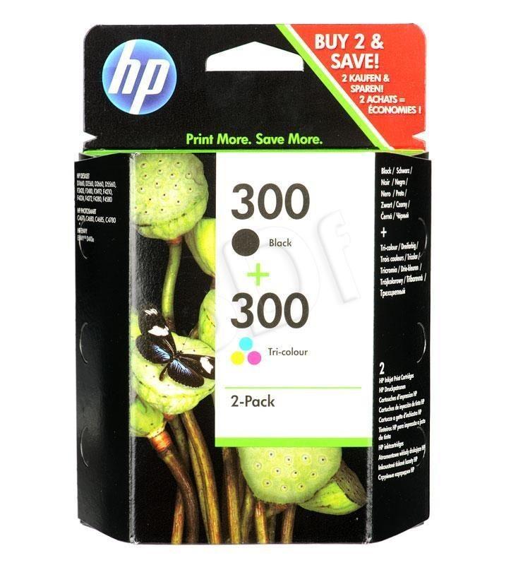 HP Tusz HP300+HP300=CN637EE Zestaw Bk+Kolor CC640EE+CC643EE