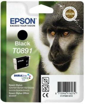 Epson Tusz T0891 black DURABrite | 5.8ml | Stylus S20/SX100/SX105/SX200/SX205...