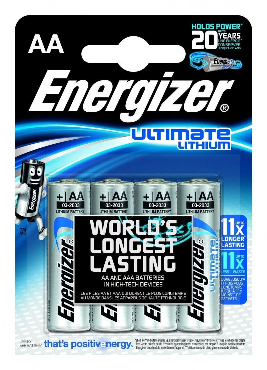 Energizer Bateria Ultimate Lithium Litowa AA L91 4 szt. blister