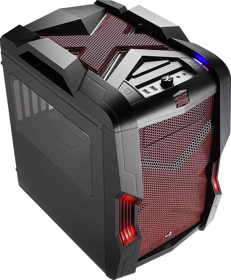 Aerocool STRIKE-X CUBE RED, USB 3.0, Obudowa Micro-ATX, bez zasilacza