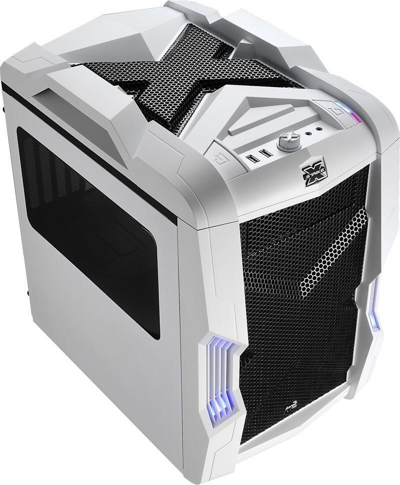 Aerocool STRIKE-X CUBE WHITE, USB 3.0, Obudowa Micro-ATX, bez zasilacza