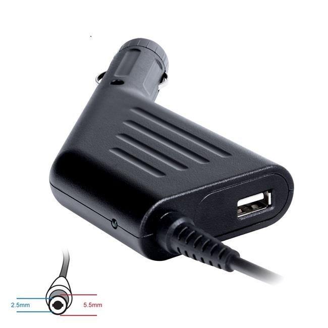 Digitalbox zasilacz samochodowy 19V/4.74A 90W wtyk 5.5x2.5mm AsusToshibaAcer|USB