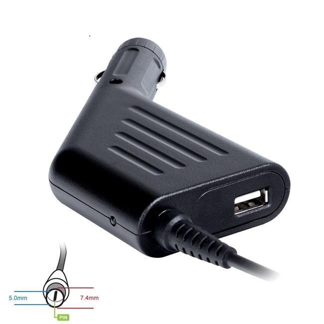 Digitalbox zasilacz samochodowy 18.5V/3.5A 65W wtyk 7.4x5.0mm+pin HP Compaq |USB
